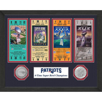 New England Patriots 4-time Super Bowl Champions Ticket Collection