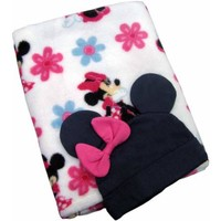 Disney Baby Bedding Minnie Mouse Blanket with Beanie - Walmart.com