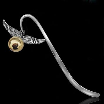 1 Pcs Gold Best Gift for Reader Snitch Harry Bookmark Charm Bookmark - Harry Potter Bookmark Gift free shipping