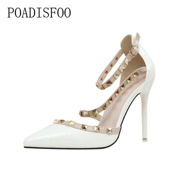 d3daa3223bd69 POADISFOO 2018 New Women s Sexy Pumps nightclubs high-heeled sh
