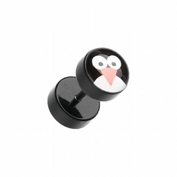Cute Penguin Acrylic Fake Plug
