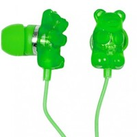 Apple Gummy Bear Ear Buds, Apple Gummy Bear EarBuds, Green Gummy Bear Ear Buds