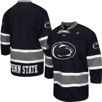 Penn State Nittany Lions Face Off Hockey Jersey – Navy Blue