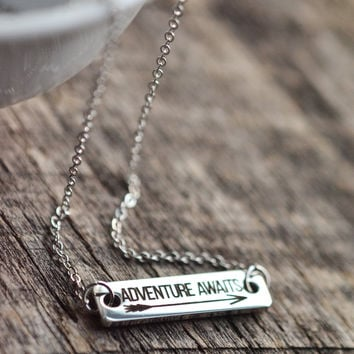 Adventure Awaits Bar Necklace