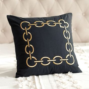 THE EMILY + MERITT GOLD CHAIN PILLOW COVER