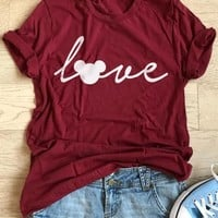 Love Mouse Short Sleeve T-Shirt - Bellelily