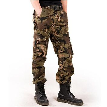 2019 Classic Large Size Casual Men Army Cargo Long Outwear Pants Autumn Spring Military Camouflage Men's Pants