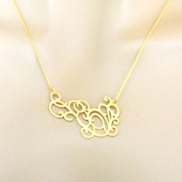 Modern, Abstract, Rose, Vine, Gold, Silver, Necklace, Birthday, Best friend, Sister, Gift, Accessory, Jewelry