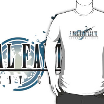 #vh Final Fantasy VI Advent Children movie animation logo black t-shirt