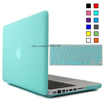 NEW Matte Case For Apple macbook Air Pro Retina 11 12 13 15 laptop bag For Mac book 13.3 inch Keyboard Cover+Screen Protector