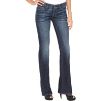 7 For All Mankind Womens Original Fit Dark Wash Bootcut Jeans