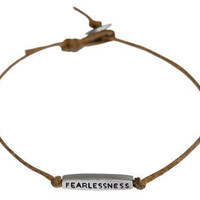 Me&Ro Jewelry -   Men's Joyful Heart Fearlessness Tube Bracelet