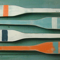 Oar Paddle Sign Numbers Letter Wall Art Nautical Beach House Lake Cottage Decor - 40 Inch