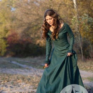 Medieval renaissance dress Autumn Princess - great LARP or reenactment costume :: ArmStreet