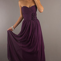 Classic Long Strapless Gown