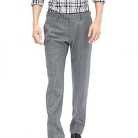 Banana Republic Mens Modern Slim Herringbone Gray Wool Suit Trouser