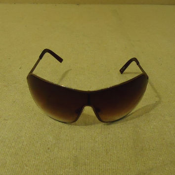 Designer Sunglasses Aviator Female Adult Browns Solid -- Preowned