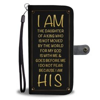 I AM HIS (Black) - Christian  Wallet Phone Case