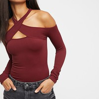 Seamless Wrap Neck Top