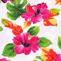 hoopla white hawaiian fabric