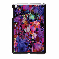 Lush Floral Pattern Beaming Orchid Purple iPad Mini Case