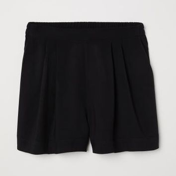 Wide-cut Shorts - Black - | H&M US