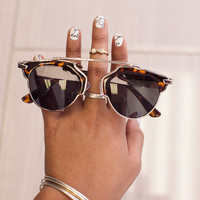 The Lookout Sunglasses - Tiger/Mirror