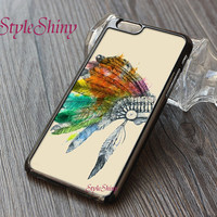 Indian chief, The skull feather, Phone case, iphone 6 case, iphone 6 plus, iPhone 5s case, iPhone 5c case, Galaxy S5 case, Phone cover-006-3