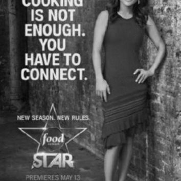 "Next Food Network Star Poster Black and White Poster 16""x24"""