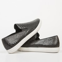 Snake Skin Slip On Sneakers