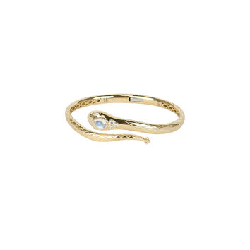 Temple St. Clair - Yellow Gold Sergent Hinged Cuff Bracelet