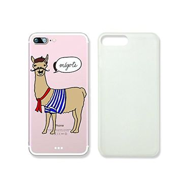 Cute Llama French Slim Iphone 7 Case, Clear Iphone Hard Cover Case For Apple Iphone 7 Emerishop (NLA240.7sl)