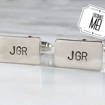 Personalized Initial Monogrammed Cufflinks