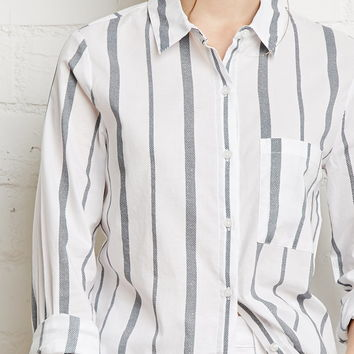 Striped Cotton Shirt | FOREVER 21 - 2000133322