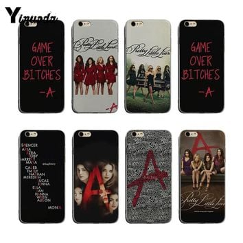 Yinuoda Pretty Little Liars tv Transparent edge Soft silicone Cover case For iPhone 6 6plus 7 7Plus 8 8plus X XS XR XSMax