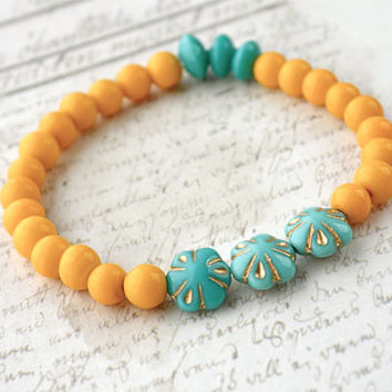 Colorful Bead Stretch Bracelet