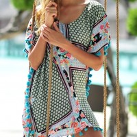 Seafolly Kimono Rose Dahlia Kaftan at Coco Bay - hand picked designer women's beachwear and beach accessories. Next Day Delivery & Free UK Returns