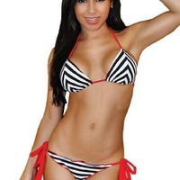 CastawayTriangle Bikini Swimwear Top - MEDIUM