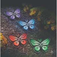 Set of 4 Solar Butterfly Pathway Lights