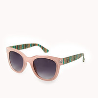 F3394 D-Frame Tribal Print Sunglasses