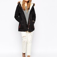 Vero Moda Icon Parka With Drawstring Waist