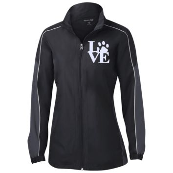 Love Paw - LST61 Sport-Tek Ladies' Piped Colorblock Windbreaker