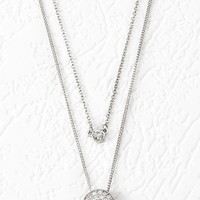 Rhinestone-Encrusted Disc Necklace Set