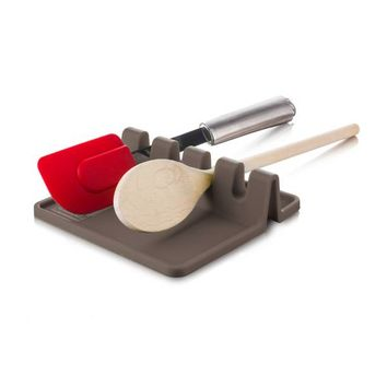 Silicone Utensil Rest in Grey