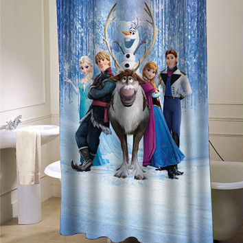 disney frozen decorative shower curtain one side size 36x72,48x72,60x72,66x72