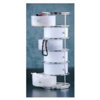 My Associates Store - Taymor Chrome Six Drawer Storage Tower with Frosted Acrylic Drawers