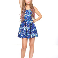 Girls Royal Sequins Skater Dress