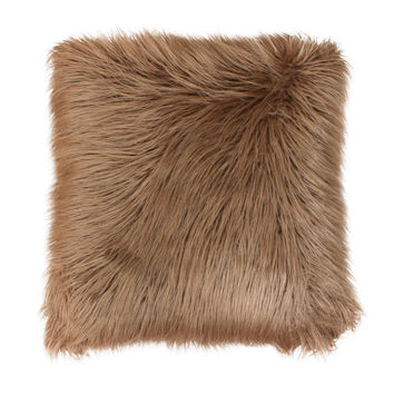 Thro by Marlo Lorenz Keller Faux Mongolian Fur Throw Pillow