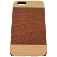 Wooden Case iPhone 6 Hard Cover Patent Mix Wood Red