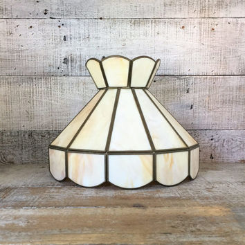 Glass Lampshade Stained Glass Lampshade Tiffany Style Stained Slag Glass Ceiling Lamp Shade  Glass Chandelier Shade Cottage Chic Lighting